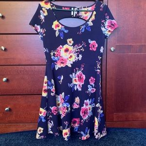 French Floral Fit & Flare Dress • Size M
